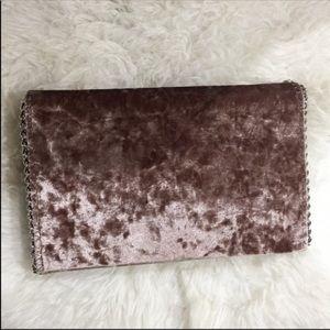 Chelsea28 velvet chain silver strap Taipe mini bag